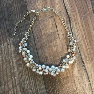 Faux Pearl Chunky Necklace